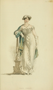 September 1807- gracious look how high above the ankles that dress is!