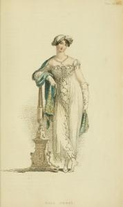 1813 v9 Ackermann's fashion plate 46 - Ball Dress
