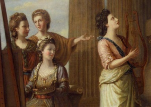 Portrait of the Characters of the Muses in the Temple of Apollo by Richard Samuel 1779. Source: Wikimedia Commons
