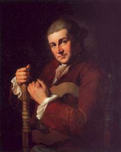 David Garrick by Angelica Kauffman, 1766. Source: Wikimedia Commons