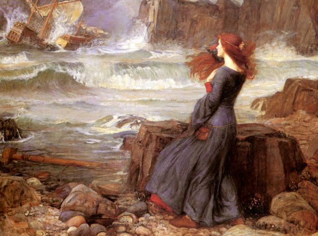 Miranda- The Tempest, 1916 by John William Waterhorse. Source: Wikimedia Commons