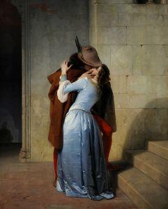El Beso by Pinacoteca de Brera, 1859. Source: Wikimedia Commons.