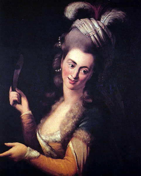 Aloysia Weber as Zémire in André Grétry's opera Zémire et Azor by Johann Baptist von Lampi the Elder. Source: Wikipedia