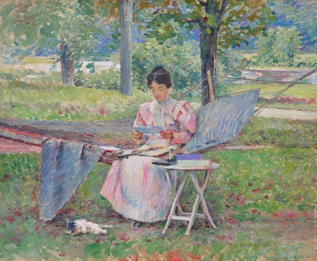 Correspondence by Theodore Robinson, 1895. Source: Wikimedia Commons