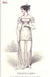 evening dress_la belle assemblee_december 1812