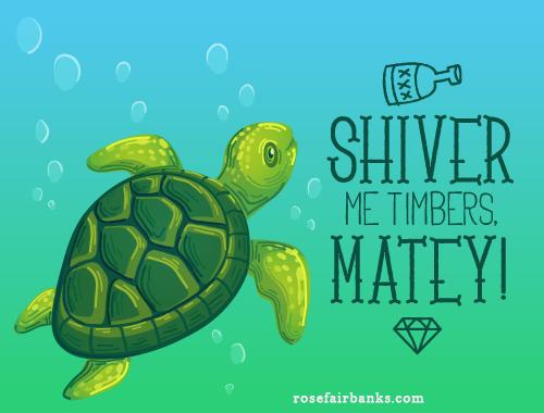 shiver me timbers turtle