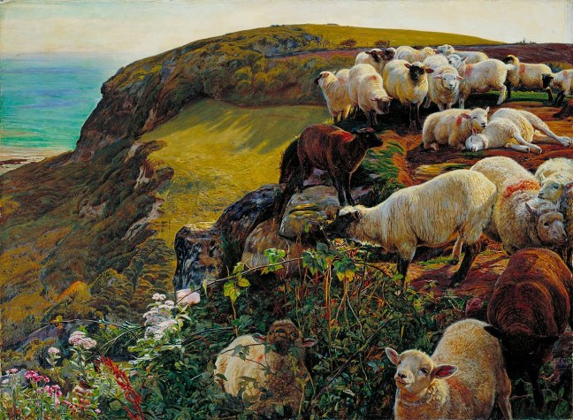 1280px-William_Holman_Hunt_-_Our_English_Coasts,_1852_(`Strayed_Sheep')_-_Google_Art_Project