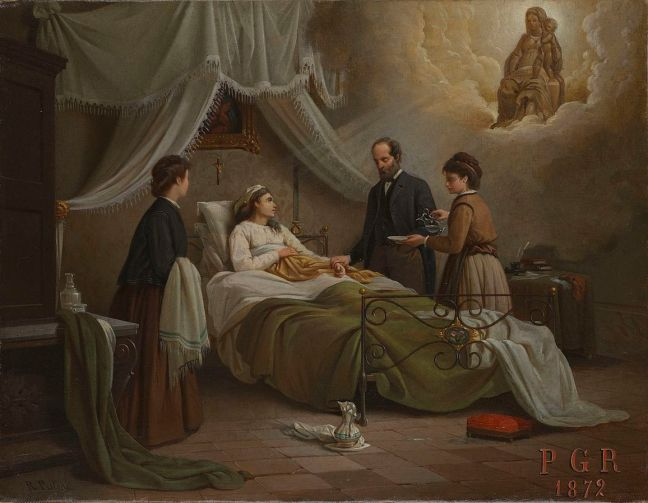 'A_Woman_in_Bed_in_a_Sick_Room'_Wellcome_L0075284
